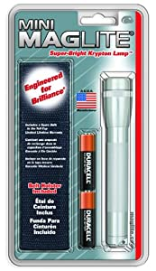 MAGLITE M2A10H AA Mini Flashlight and Holster Combo Pack, Silver
