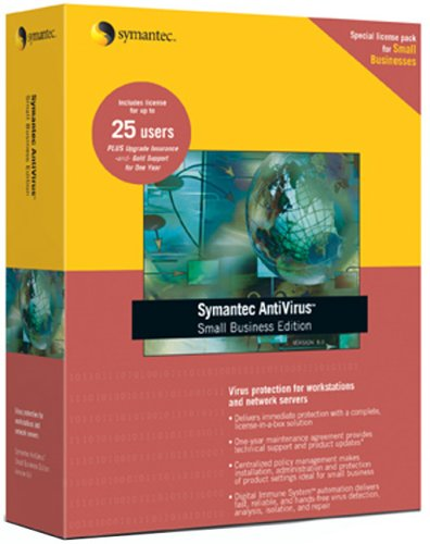 Symantec Antivirus Small Business Edition 8.1 For Workstations & Network Servers 25 User