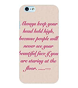 ColourCraft Quote Design Back Case Cover for APPLE IPHONE 6