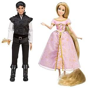 Disney Tangled Exclusive Rapunzel Flynn Rider Celebration Doll Set