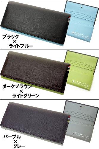 ポールスミス財布 PaulSmith ポールスミス 財布 サイフ さいふ 二つ折り財布 長財布 PSU008 (ブラック)