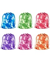 Tie-Dyed Camouflage Drawstring Bags Party Favors, Arts & Crafts Activity 12 Pack