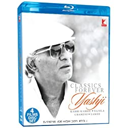Classic Forever Yashji... Kabhie Kabhie/ Silsila/ Chandni/Lamhe - Blu Ray (Hindi Film / Bollywood Movie / Indian Cinema) 2013 [Blu-ray]