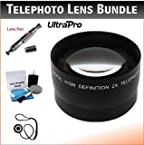 58mm Digital Pro Telephoto Lens Bundle for the Panasonic Lumix DMC-G6 Digital Camera with 14-42mm f3.5-5.6 Lens. Includes 2x Telephoto High Definition Lens Lens Pen Cleaner Cap Keeper UltraPro Deluxe Cleaning Kit