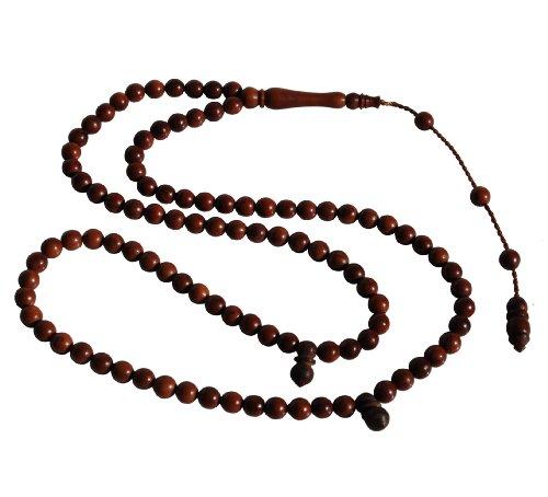 Small 6mm 99-Bead Dark Brown Turkish Kuka - Koka Seed Praying Beads - Islamic Zikr Beads