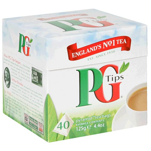 Buy PG Tips Black Tea, Pyramid Tea Bags, 40-Count Boxes (Pack of 6) (PG Tips, Health & Personal Care, Products, Food & Snacks, Beverages, Tea, Black Teas, Tea Bags)