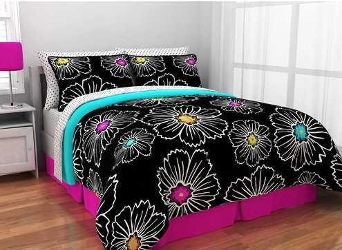 Ideal  Teen Girls Reversible Comforter Set Piece Bed In A Bag