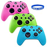 Xbox One Controller Case Slick Blue Glow In Dark Series Silicone Protection Case Skin For Xbox One Dual Shock Controllers With Grip 3 Color (Pink/ Green/ Blue)