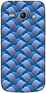 Snoogg background of curled blue wave Hard Back Case Cover Shield For Samsung Galaxy Core 2
