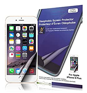Green Onions Supply Oleophobic Screen Protector for iPhone 6 Plus - Retail Packaging - Transparent