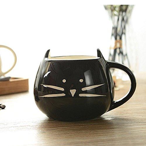 Cute Cat Coffee Milk Tea Drink Ceramic Mug Cup Black Lover Kid Gift (Snow Peak Travel Mug compare prices)