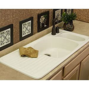 Advantage Wakefield Double Bowl Self Rimming Kitchen Sink Finish: Sunlight, Faucet Drillings: Two Holes