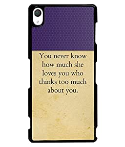 Fuson 2D Printed Quotes Designer back case cover for Sony Xperia Z3 - D4307