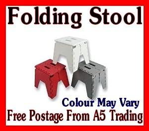 Folding plastic stool