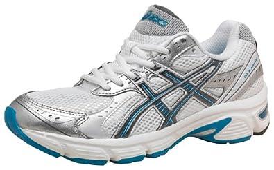 Asics Womens Gel Blackhawk 5 Running Shoes White/Dark Grey/Light Blue