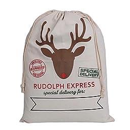 Hanta Janss Christmas Bag Sika Deer Pattern Design Santa Sack 27\