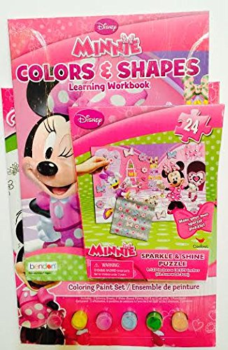Minnie Mouse Colors & Shapes Learning Workbook