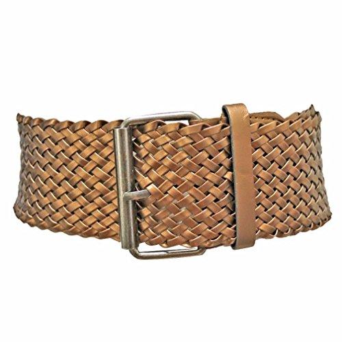 Luxury Divas Bronze Wide Weave Braided Corset Belt