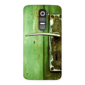 Stylish Classic Door Green Back Case Cover for LG G2
