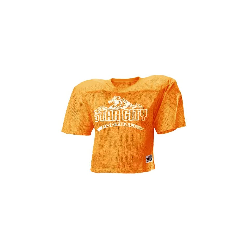 785bc9d92 Alleson 710Y Youth Extreme Mesh Custom Football Jerseys OR ORANGE YS ...