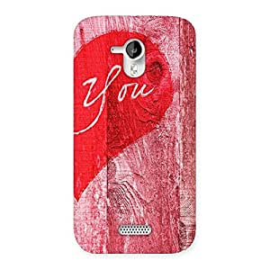 Pink You Back Case Cover for Micromax Canvas HD A116