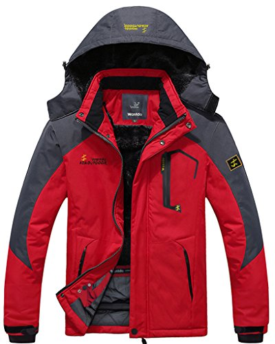 Wantdo Men's Waterproof Mountain Jacket Fleece Windproof Ski Jacket(US L) (Fishing Jacket Waterproof compare prices)