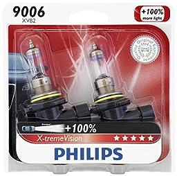Philips 9006 X-tremeVision Upgrade Headlight Bulb, 2 Pack