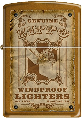 Zippo Genuine Zippo Vintage Windproof Lighter Bradford PA Poster Toffee NEW Rare 0