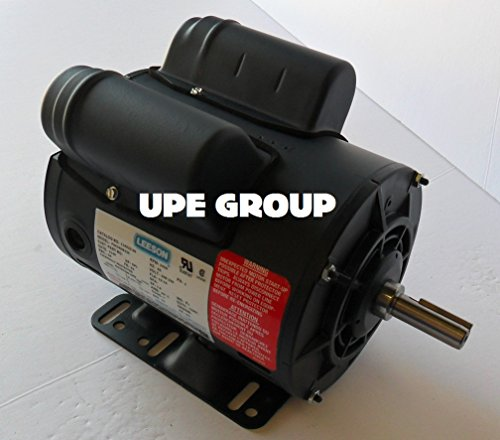 5HP SPL LEESON 56 Frame ELECTRIC MOTOR Replaces Air Compressor Motor - Century Motor # B385 230v 15 Amp