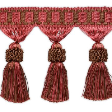 Tassel Fringe - Rose, Brown - Large 1 Yard