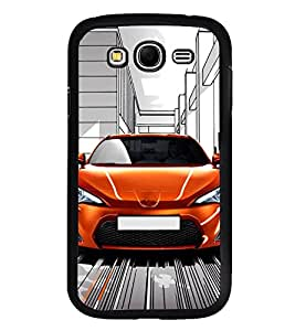 Fuson Premium 2D Back Case Cover Stylish Car With Brown Background Degined For Samsung Galaxy Grand Neo Plus::Samsung Galaxy Grand Neo Plus i9060i