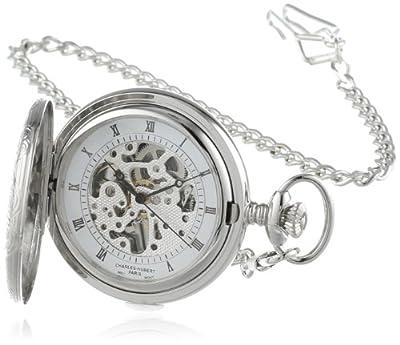 Charles-Hubert Pocket Watch 3804 Chrome Plated Half Hunter