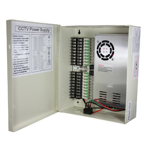 InstallerCCTV 18 Output 29 Amp 12V DC CCTV Distributed Power Supply Box for Security Camera (Security Camera Power Supply Box compare prices)