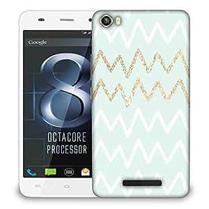 Snoogg wavular Designer Protective Back Case Cover For LAVA IRIS X8