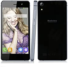"""Blackview Omega V6 Smartphone Téléphone Portable Mobile Phone Débloqué 3G Android 4.4.2 MTK6592W Octa Base 1.7GHz Écran Tactile 5.0"""" Multi-Point de 1920 * 1080 Pixels 440 PPI FHD IPS OGS ROM de 16 Go + 2 Go de RAM 8.0 MP (Caméra Avant) 18.0MP (Caméra Arrière) Dual SIM GSM / WCDMA G-sensor Capteurs de Proximité Capteur de Lumière GPS Bluetooth FM WIFI OTG Charge Rapide HotKnot Torch 2100mAh - Noir"""
