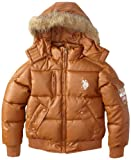 U.S. Polo Association Girls 7-16 Bubble Faux Fur Hooded Jacket