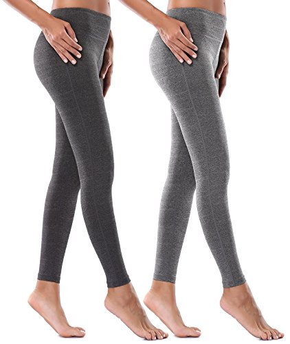 Mirity Women Activewear Yoga Pants Tight Spandex Workout Athletica Gym Yogapants Color Black+Grey Size S