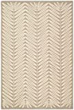 Safavieh MSR3612B Martha Stewart Collection Wool and Viscose Area Rug, 8-Feet by 10-Feet, Chevron Leaves Oolong Tea Green