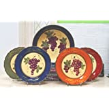 Tuscany Colorful Grapevine Hand Painted Ceramic 5-Piece Pasta Set, 84099/11 by ACK