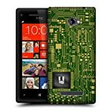 Head Case Designs Dark Green Circuit Boards Protective Snap-on Hard Back Case Cover for HTC Windows Phone 8X