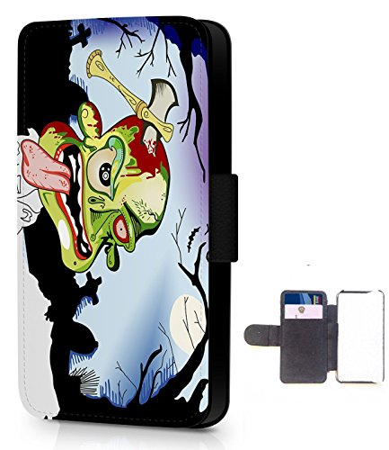 zombie-leather-wallet-phone-case-lots-of-models-choose-from-list-in-advert-htc-one-m7