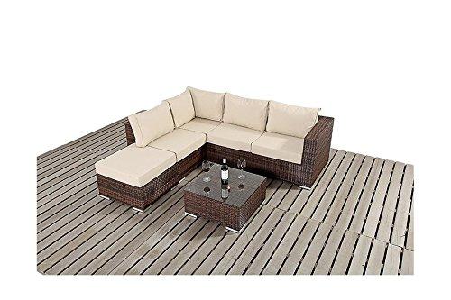 Sydney Rustikal Garten Möbel klein Ecke Sofa-Set