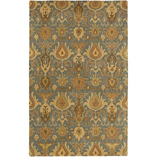 6' x 9' Grazed Neptune Iceberg Blue, Olive Green, and Beige Area Throw Rug smoby детская горка king size цвет красный