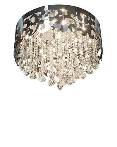 Finesse Décor Crystal Crown 18-Light Grand Flush, Chrome