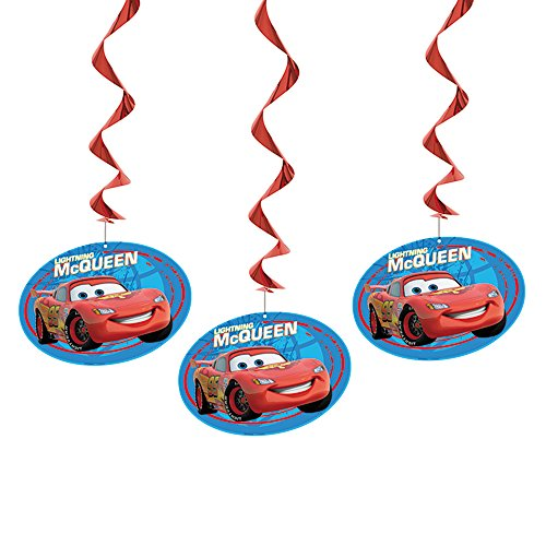 "Unique 36"" Hanging Disney Cars (3 Count) - 1"