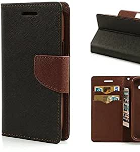 Case Cloud Mercury Dairy Flip Cover for Lenovo A7000 - Black Brown