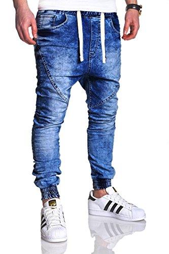 MT Styles Sportivi-Jeans Pantaloni Uomo RJ-2089 Blau [blu, W30/L32]
