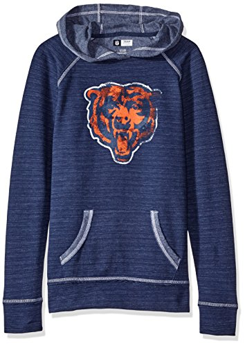 NFL Long sleeve raglan pullover hoodie the All Out Action Program, Chicago Bears, Small (Chicago Bears Womens Hoodie compare prices)