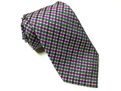 Calvin-Klein-Mens-100-Silk-Tie-Plaid-Print