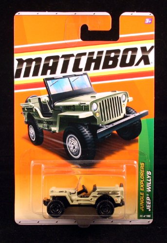 2010 MATCHBOX JUNGLE EXPLORERS 96 OF 100 TAN JEEP WILLYS - 1